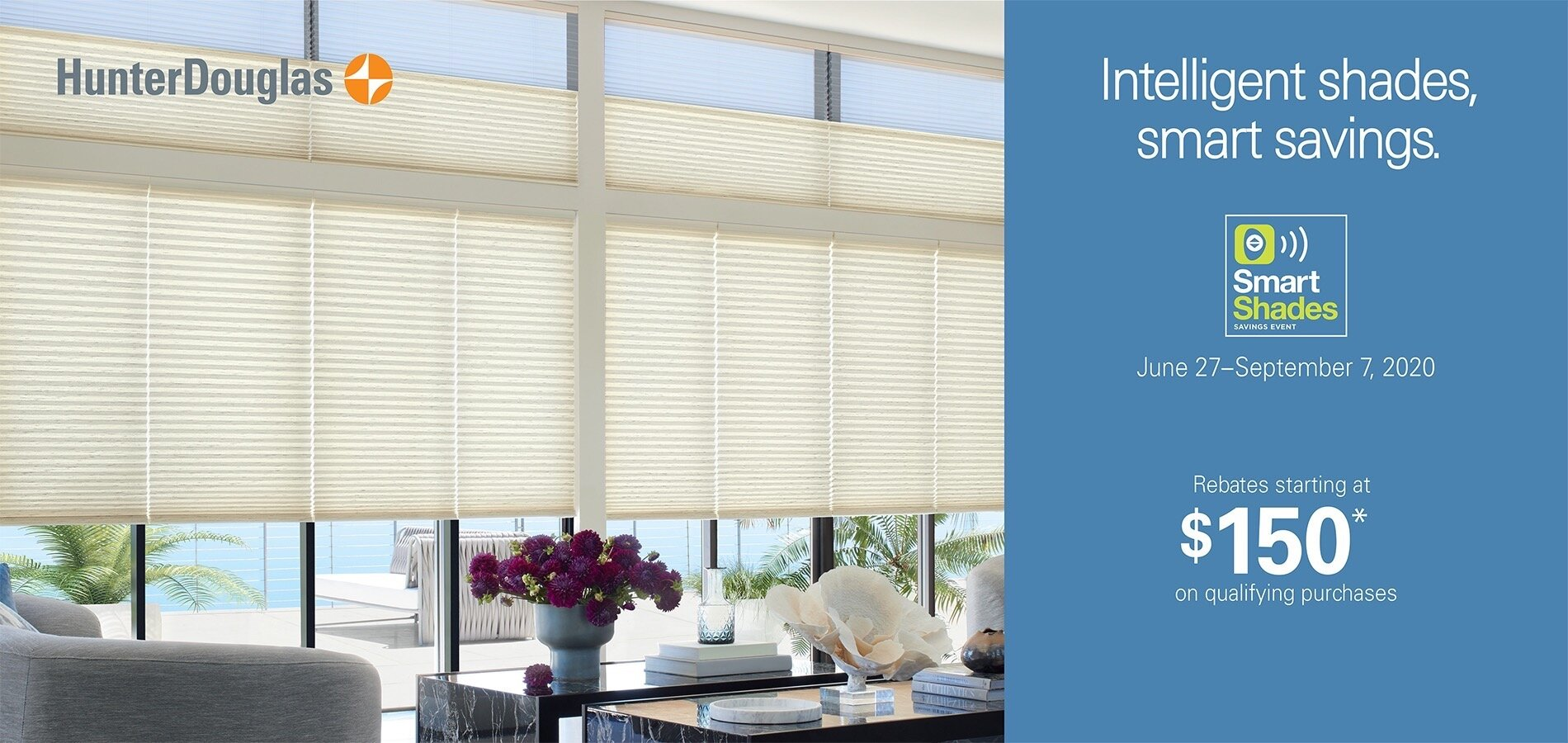 Intelligent shades, smart savings by Hunter Douglas at The Blinds Man